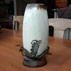 Ceramic and Metal Vase